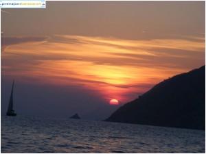 krásny západ slnka v Porto Venere