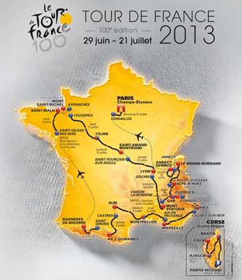 Trasa Tour de France 2013