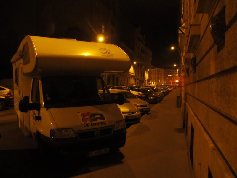 Tichá ulička, v ktorej sme strávili našu prvú noc.