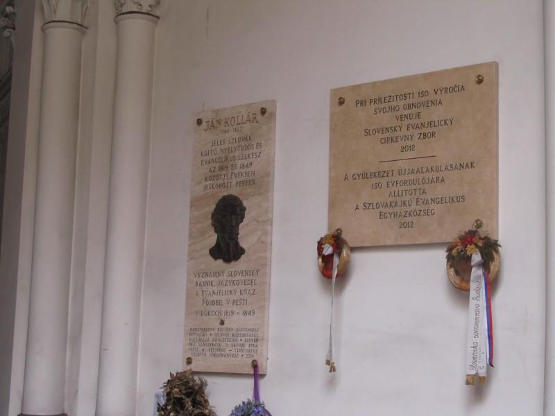 Pamätná tabuľa Jána Kollára- v Budapešti v minulosti pôsobilo veľmi veľa významných slovenských rodákov.