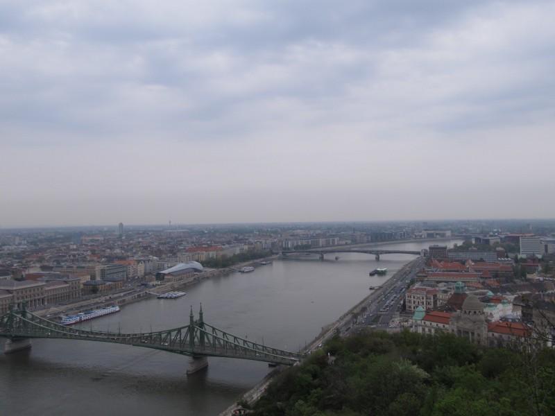 Výhľad z vrchu Géllert.