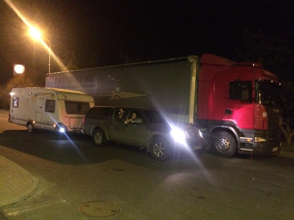 porovnanie dlžok s kamionom