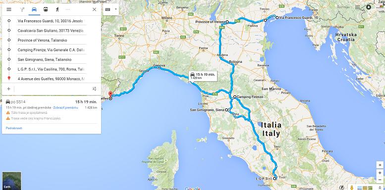 Cesta po Taliansku